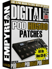 Line 6 POD HD500 Patches Guitar Effects Presets Amp Tone Artist Settings Line6