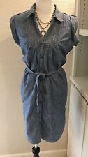 Gap Dress, Size XL, Chambray, Belted, Blue, Cotton, Belted