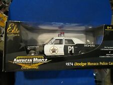 AMERICAN MUSCLE ERTL 1974 DODGE MONACO POLICE original blues brother 1/18 patrol