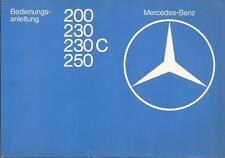 MERCEDES E-KLASSE C123 Coupe Betriebsanleitung 1977 1978 Bedienungsanleitung BA