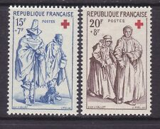 France B318-19 MNH OG 1957 Blind Man - Beggar and Women Beggars Full Set VF