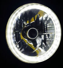 "White 7"" Round LED Halo Ring H4 Headlights Angel Eye DRL Holden FJ FE FC FB EK"