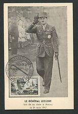 FRANCE MK 1948 GENERAL LECLERC MAXIMUMKARTE CARTE MAXIMUM CARD MC CM d5258