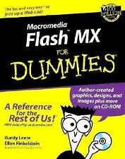 MACROMEDIA FLASH MX FOR DUMMIES - 1 USED BOOK  - DVD BROKE