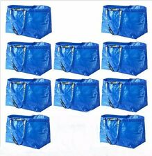 10 IKEA Large Shopping Bag Laundry Tote Grocery Storage Reusable Strong FRAKTA