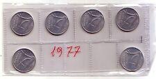 Repubblica Italiana  10 lire 1977  Spighe  italma   FDC (6 pezzi)