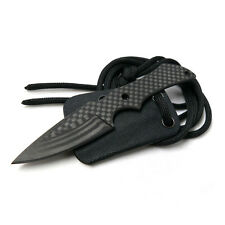 """4.5"""" Overall Length Carbon Fiber Fixed Neck Knife With Kydex Sheath"""