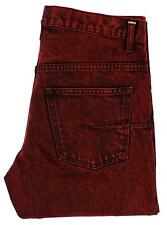 NWT $800 Dior Homme Mens Red Straight Leg Button Fly Jeans Made in Japan 29 17cm