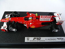 Hot Wheels 1:43 Ferrari F10 Bahrain GP 2010 Fernando Alonso T6289
