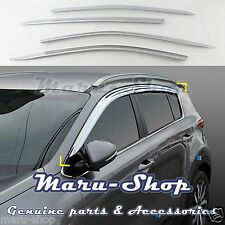 Chrome Door Window Vent Visor Deflector for 17+ Kia Sportage