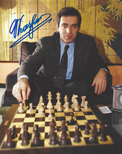 CHESS WORLD CHAMPION RUSSIAN LEGEND GARRY KASPAROV SIGNED 8X10 PHOTO D COA PROOF