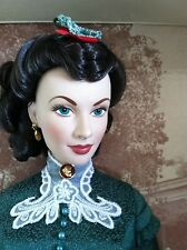 "Franklin Mint GWTW Scarlett Christmas Dinner w/Ashley 16""Vinyl Doll w/Tag in Box"