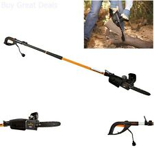Electric Tree Trimmer Pole Chain Saw Pruner Remington 15 Foot Branch Powerful