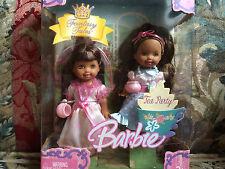 Barbie Kelly Fantasy Tales Tea Party Dolls African American Dolls NIB