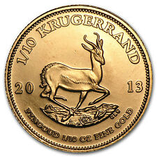 2013 1/10 oz Gold South African Krugerrand Coin - Brilliant Uncirculated