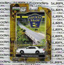 GREENLIGHT 1:64 County Roads S2 2008 FORD CROWN VICTORIA POLICE Blank Customs