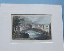 DUNNSVILLE, Maine R. B. Dunn's Tool & Scythe Factory, Antique Print Mid 1800's