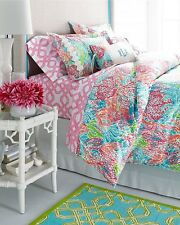Lilly Pulitzer For Garnet Hill Twin  Duvet cover Lets Cha Cha