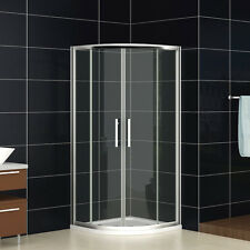 760x760mm Quadrant Shower Enclosure Walk In Cubicle Glass Door Screen+ Tray H76