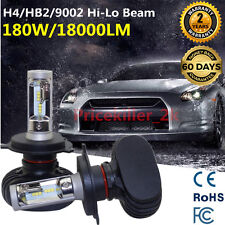 Philips H4 180W 18000LM Headlight Hi-Lo High Bright Bulbs 9003 HB2 LED Beam Kit