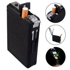 Automatic Windproof Lighter  Ejection Butane Cigarette Case Holder Dispenser GY