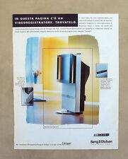 E695 - Advertising Pubblicità -1997- BANG&OLUFSEN VIDEOREGISTRATORE