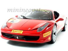 HOT WHEELS BCT89 FERRARI 458 ITALIA CHALLENGE # 12 1/18 DIECAST RED