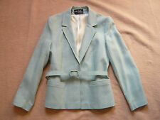 Green belted jacket. Polly Peck by Sybil Zelker 1970s Made in England Size 12/14
