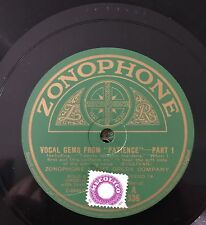 "RARE 78RPM 12"" ZONOPHONE LIGHT OPERA COMPANY VOCAL GEMS FROM PATIENCE PT 1/2"