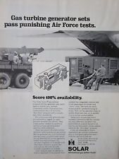 1/1973 PUB SOLAR GAS TURBINE GENERATOR SETS AIR FORCE ORIGINAL AD