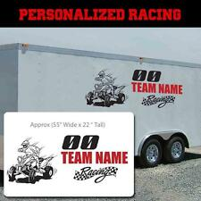 Personalized Quad Custom Race sticker, Quad checkered flag custom race decal