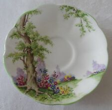 ROYAL ALBERT GREENWOOD TREE  lot 4  SAUCERS only gold rims