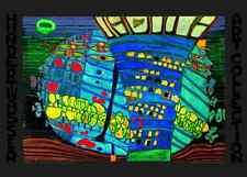 Hundertwasser Der blaue Mond Poster Kunstdruck Bild 67x48 cm Kostenloser Versand