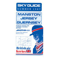 British Air Ferries - Airline Timetable - Summer 1987 - Manston Jersey Guernsey