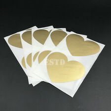 50 Scratch Off Stickers Label 60x70mm Gold Love Heart Shape For Games Wedding