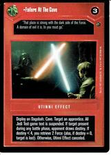 STAR WARS CCG DAGOBAH BLACK BORDER DARK SIDE RARE FAILURE AT THE CAVE