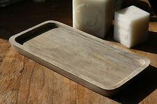 LENE BJERRE Holz Tablett Mangoholz rechteckig braun Klassisch Edel