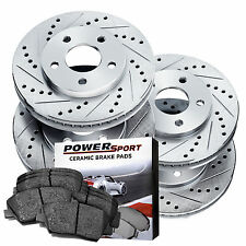 Full Kit Drilled Slotted Brake Disc and Ceramic Pads 1991-1999 Mitsubishi 3000GT