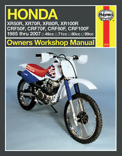 Haynes Repair Manual 2218 - Honda XR50R, XR70R, XR80R, XR100R (1985-2007)