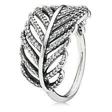 Pandora Light as a Feather Ring, Size : 7.5 / (56), #190886CZ New, Free Shipping
