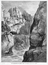 Karst bei Škocjan, St. Kanzian, Krain Slowenien Orig-Holzstich 1894
