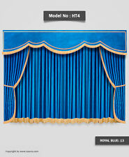 Saaria Stage Curtains Home Movie Theater Velvet Drapery 12'W x 8'H Costum Colors