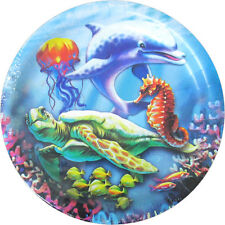 OCEAN FRIENDS Sea Turtle LARGE PAPER PLATES (8) ~ Birthday Party Supplies Dinner