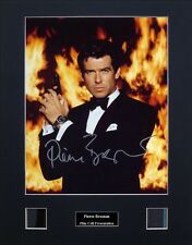 Pierce Brosnan Ver1 Signed Photo Film Cell Presentation