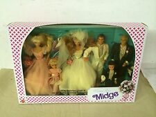 1990 Barbie MIDGE WEDDING PARTY Gift Set No. 9852 Mattel Unopened Vintage Plus