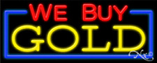 WE BUY GOLD HANDCRAFTED ENERGY EFFICIENT GLASSTUBE NEON SIGNS