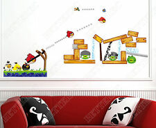 Angry birds wall stickers art deco kids nursery enfants chambre autocollant uk stock A07