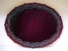 Avon Ruby Cape Cod Red Glass Oval Platter