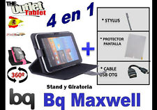 "PACK FUNDA 360º TABLET BQ MAXWELL 7"" + PROTECTOR + STYLUS + CABLE USB OTG"