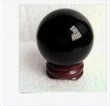 40MM +Stand Black Glass Sphere Crystal Ball Healing free shiping
